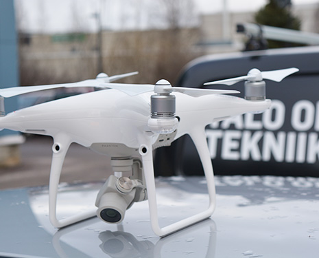 Roof inspection can be carried out more easily by using a four rotor UAV